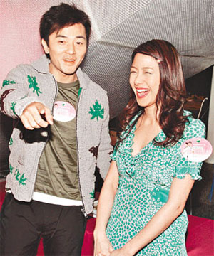 Ekin Cheng and Karena Lam