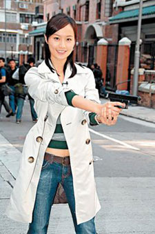 Fala Chen right before she shot the stuntman