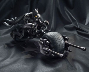 Batman and Batpod from Bandai
