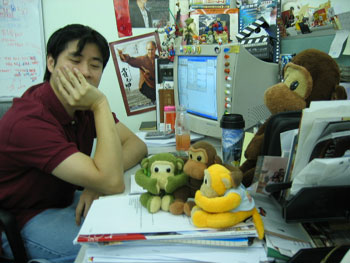 Kozo at his desk