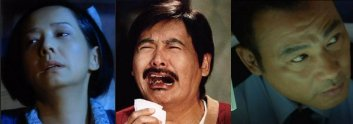 From left to right: Teresa Mo, Chow Yun-Fat, Simon Yam