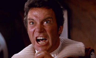 William Shatner in STAR TREK II: THE WRATH OF KHAN