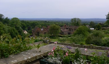 View from the Pink Terrace at Chartwell
