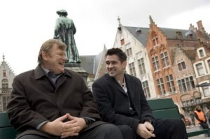 Brendan Gleeson (left) and Colin Farrell in IN BRUGES