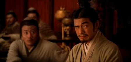 Takeshi Kaneshiro's comic reflief face in RED CLIFF