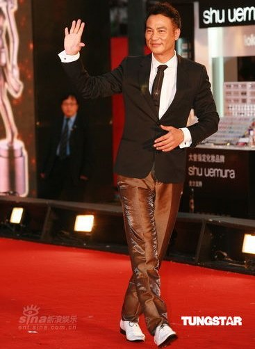 Simon Yam on the red carpet