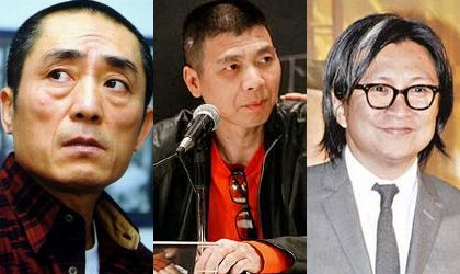 From left to right: Zhang Yimou, Feng Xiaogang, Peter Chan Ho-Sun