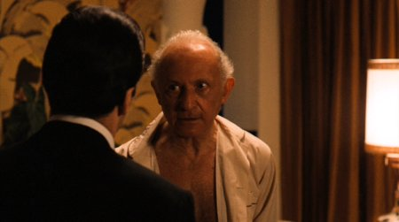 Lee Strasberg as Hyman Roth in THE GODFATHER, PART II