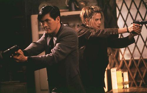 Chow and Mira in The Replacement Killers